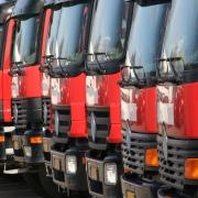 Frota de caminhões