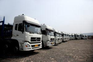 Manutenção preventiva na frota de caminhões