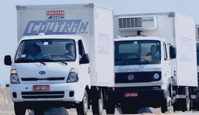 Frota de veículos da Coutran